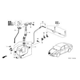 Бачок омывателя Honda Accord 7 (2002-2007)