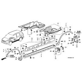 Брызговик задний правый Honda CR-V 3 (2007-2010)
