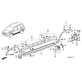 Брызговик задний правый Honda CR-V 3 (2010-2012)