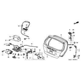 Амортизатор крышки багажника правый Honda Jazz (2008-2013)
