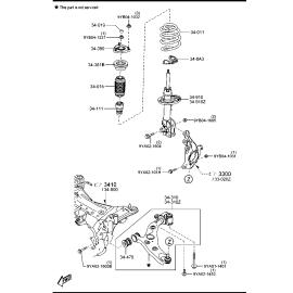 Подшипник опоры переднего амортизатора Mazda 3 BM (2013-н.в.)