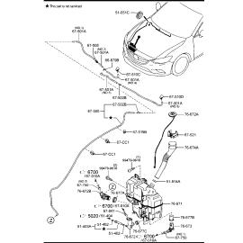 Бачок омывателя Mazda 3 BM (2013-н.в.)