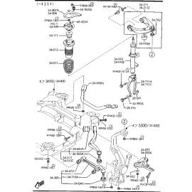 Отбойник амортизатора переднего Mazda 6 GG (2002-2007)