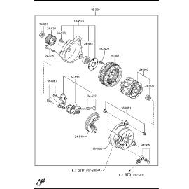 Щётки генератора Mazda 6 GJ (2012-н.в.)