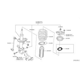 Подшипник опоры амортизатора переднего Nissan X-Trail T31 (2011-2015)