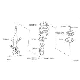 Пыльник отбойник амортизатора переднего Nissan Qashqai J10 (2010-2014)