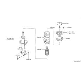 Подшипник опоры амортизатора переднего Nissan Qashqai J10 (2010-2014)