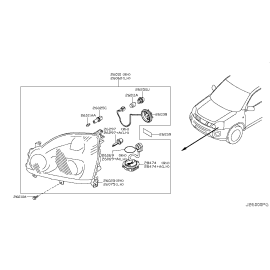 Фара правая Nissan X-Trail T31 (2011-2015)