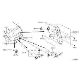 Фонарь правый Nissan X-Trail T31 (2011-2015)