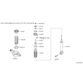 Пыльник-отбойник амортизатора заднего Nissan Teana J31 (2003-2008)