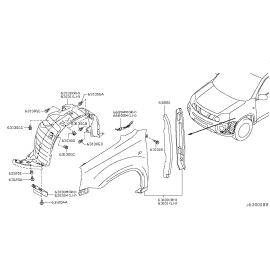 Подкрылок передний левый Nissan X-Trail T31 (2007-2015)