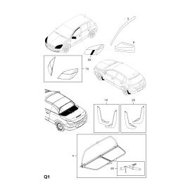 Брызговики задние (к-т) Opel Astra H (2004-2015)