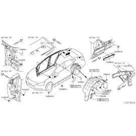 Подшипник опоры переднего амортизатора Nissan Almera G15 (2013-н.в.)