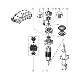 Подшипник опоры амортизатора заднего Renault Duster (2011-н.в.)
