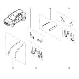 Брызговики задние (к-т) Renault Duster (2011-н.в.)