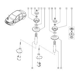 Подшипник опоры амортизатора переднего Renault Logan 1 (2004-2009)