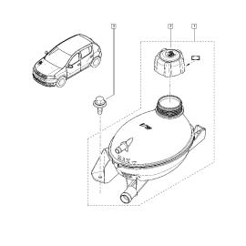 Бачок расширительный Renault Logan 2 (2014-н.в.)
