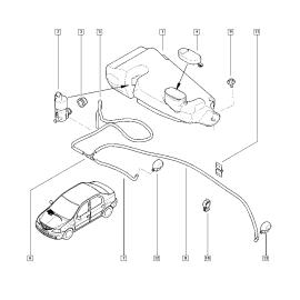 Бачок омывателя Renault Sandero 1 (2009-2014)