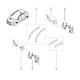 Брызговики задние (к-т) Renault Sandero 1 (2009-2014)