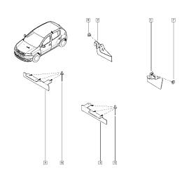 Брызговики задние (к-т) Renault Sandero 2 (2014-н.в.)