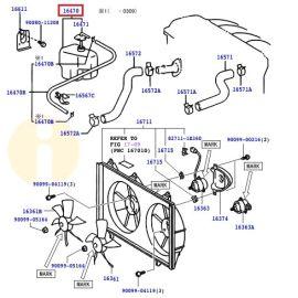 Бачок расширительный Toyota Camry v30 (2001-2006)