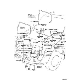 Бачок омывателя Toyota L Cruiser 100 (2002-2007)