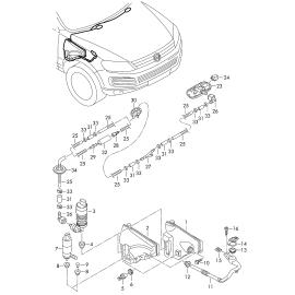 Бачок омывателя Volkswagen Touareg 2 (2010-н.в.)