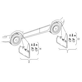 Брызговики задние (к-т) Volkswagen Touareg 2 (2010-н.в.)