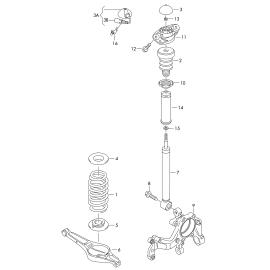 Отбойник амортизатора заднего Volkswagen Passat B6 (2005-2011)