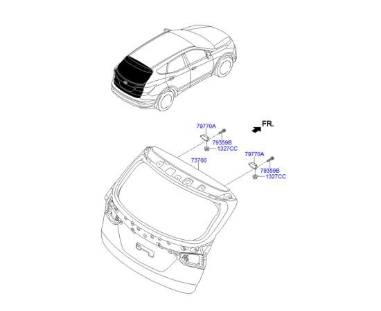 Крышка багажника Hyundai Santa Fe 3 (2012-н.в.)