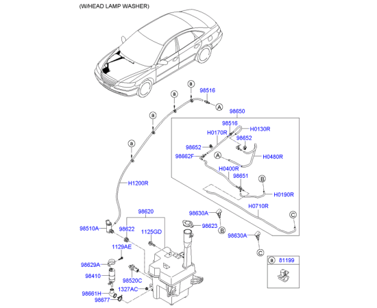 Насос омывателя Hyundai Sonata 4 (2001-2012)