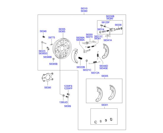 Цилиндр тормозной задний правый Hyundai Accent (2001-2006)