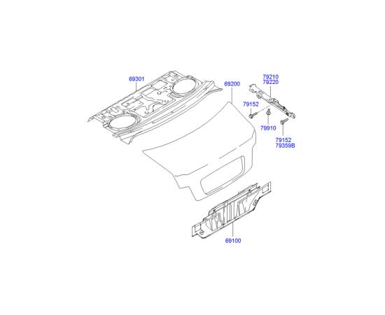 Крышка багажника Hyundai Sonata 4 (2001-2012)