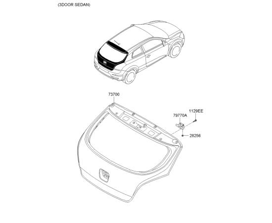 Крышка багажника KIA Ceed 1 хетчбек (2007-2012)
