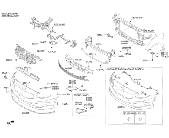 Фара противотуманная (ПТФ) левая KIA Ceed 2 (2012-н.в.)