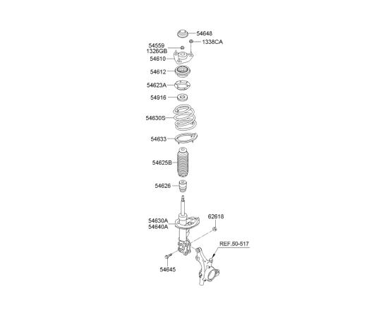 Подшипник опоры амортизатора переднего KIA Cerato 2 (2009-2013)