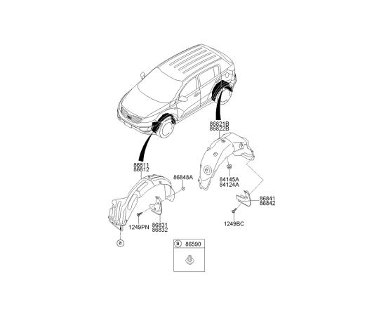 Брызговик передний правый KIA Sportage 3 (2010-2015)